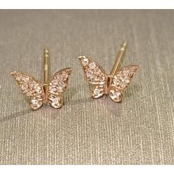 Orecchini farfalle in oro...